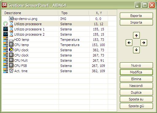 SensorPanel Manager