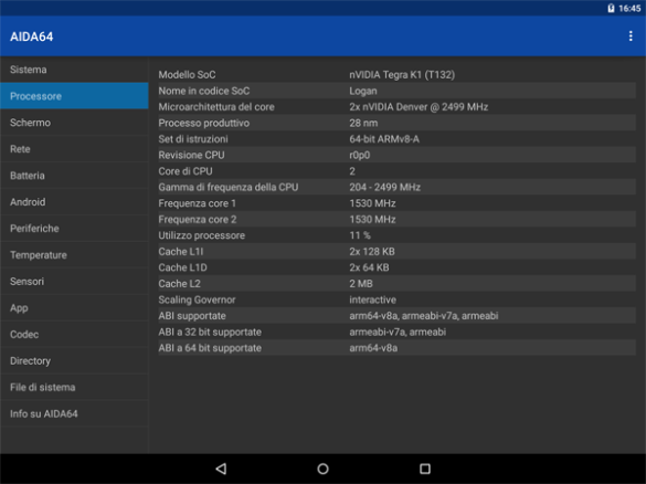 Interfaccia italiana, Nexus 9